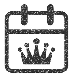 King day grainy texture icon vector