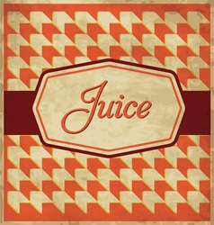 Juice label design vector