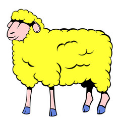 sheep icon cartoon vector image