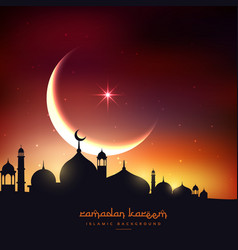 Beautiful ramadan kareem background vector