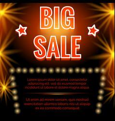 Shining big sale poster design vector