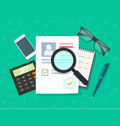 Human resources concept  flat vector
