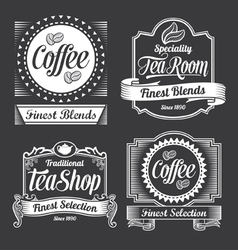 Chalkboard calligraphy banners and labels vector
