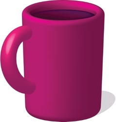 Dark red mug with drink vector