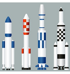 Space rockets vector