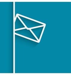 Mail blue background vector