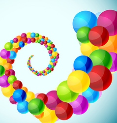 Colorful spiral background vector