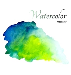 Watercolor stain on white background vector