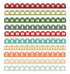 Christmas borders1 vector