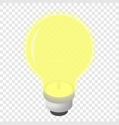 Light bulb isometric 3d icon vector
