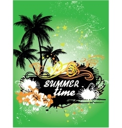 Tropical background summer time vector