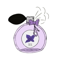 Hand drawn of a perfume bottle with vector