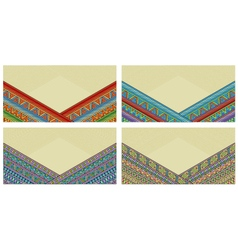 Bright ethnic horizontal frame at set vector