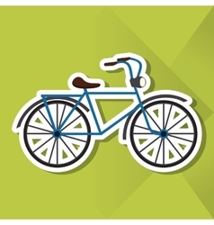 Icon design of bike vector