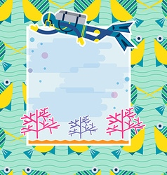 Background diving vector
