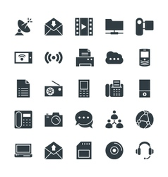 Communication cool icons 4 vector