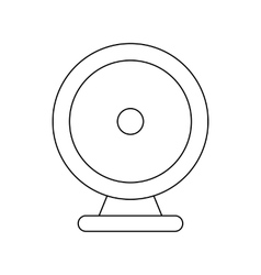 Audio speaker icon outline style vector