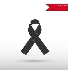 Aids awareness ribbon icon vector