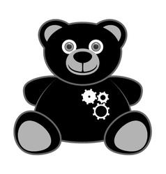 bear robot vector image vector image