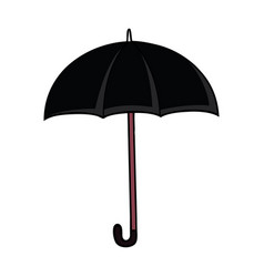 Black cartoon umbrella vector