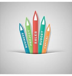 Business symbols vector