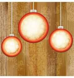 Christmas balls with place for copyspace EPS8 vector image