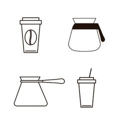 Coffee drink shop design vector image