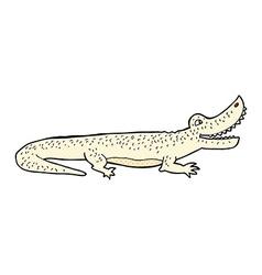 Comic cartoon happy crocodile vector