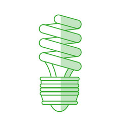 Compact fluorescent lamp design vector