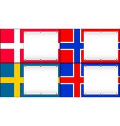 denmark norway sweden iceland vector image vector image