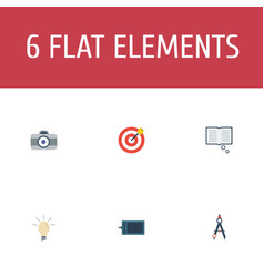flat icons gadget concept arrow and other vector image