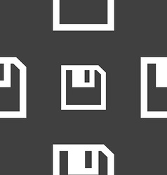 Floppy icon flat modern design seamless pattern on vector