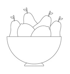 fruits on dish vector image