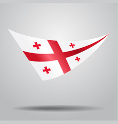 Georgian flag background vector