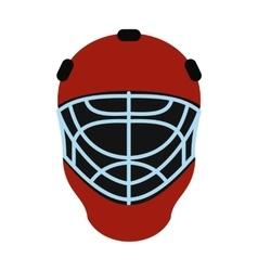 Goalkeeper hockey helmet flat icon vector