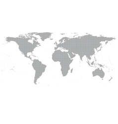 Gray world map vector