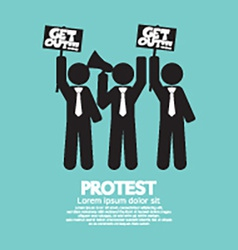 Group of protester graphic symbol vector