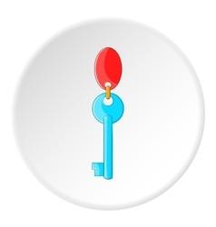 Hotel key icon cartoon style vector