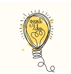 Idea light bubl design vector