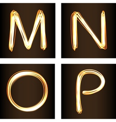 M N O P vector image vector image