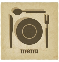 Menu old background vector