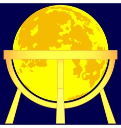 Moon globe vector