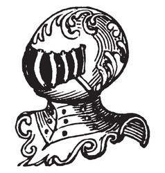 Noble have five-barred vintage engraving vector