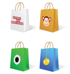 paper bag with an on it vector image vector image