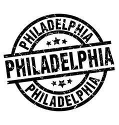 Philadelphia black round grunge stamp vector