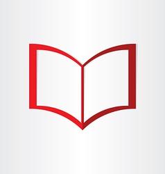 red book symbol notebook frames vector image