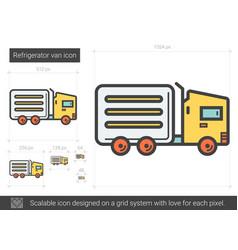 Refrigerator van line icon vector