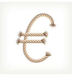 Rope euro vector image vector image