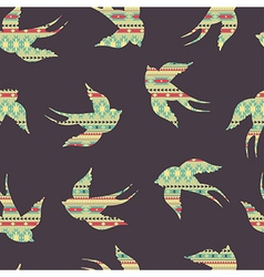 seamless colorful decorative ethnic pattern with vector image