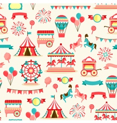 Seamless pattern - vintage carnival vector image vector image